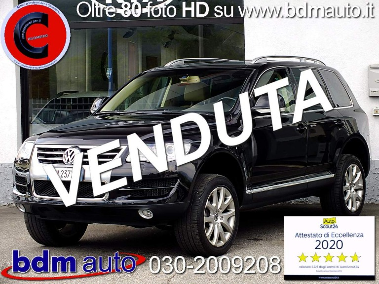 Volkswagen Touareg 3.0 240cv V6 TDI DPF tiptronic Exclusive FULL OPTIONAL Nero