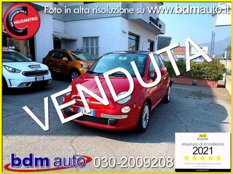 FIAT 500 1.2 Lounge TETTO PANORAMICO IDONEA NEOPATENTATI Rosso